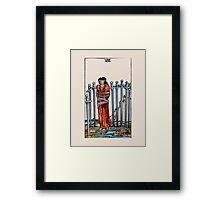 Eight of Swords Tarot Card Framed Print