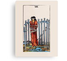 Eight of Swords Tarot Card Metal Print