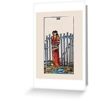 Eight of Swords Tarot Card Greeting Card