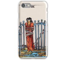 Eight of Swords Tarot Card iPhone Case/Skin