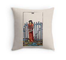Eight of Swords Tarot Card Throw Pillow