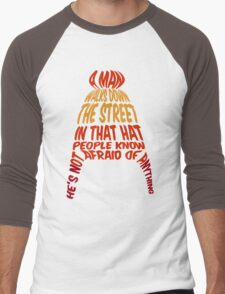 A man walks down the street... Men's Baseball ¾ T-Shirt