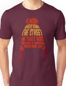 A man walks down the street... Unisex T-Shirt