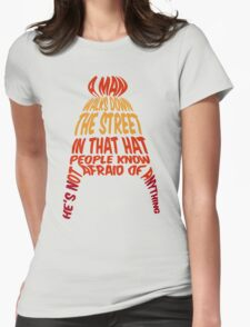 A man walks down the street... Womens T-Shirt