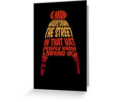 A man walks down the street... Greeting Card
