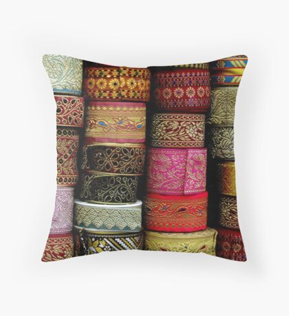 Colours & Patterns Throw Pillow