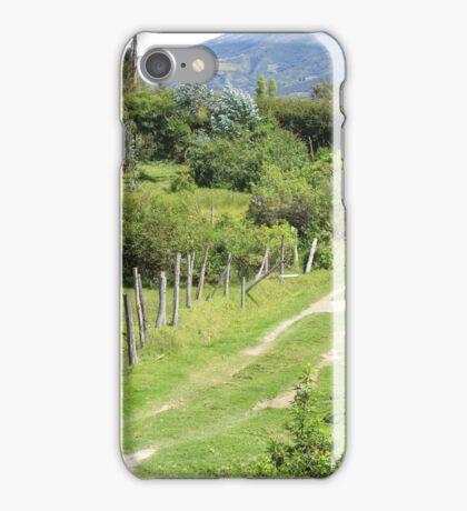 Dirt Path Through a Pasture iPhone Case/Skin