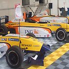 3 F1 racing cars by amylw1