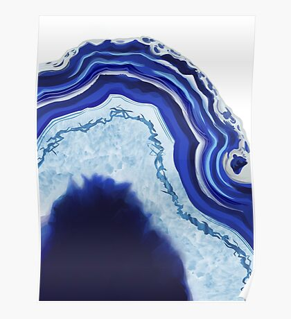 Agate Blue Poster