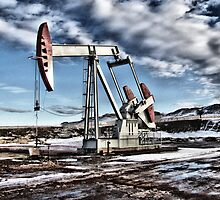 Oil Pumping Unit in Vivid Color by OilfieldGifts