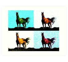 Colorized Horse Art Print