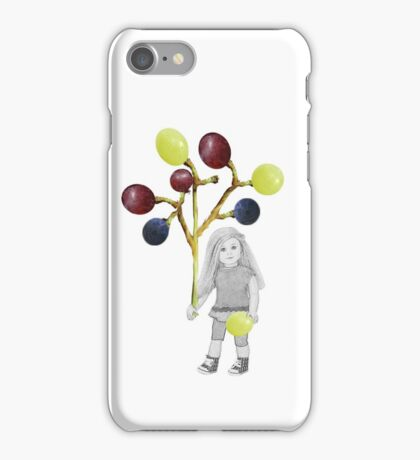 I LIKE GRAPES..CHILD HOLDING GRAPES ON THE VINE-PILLOW,TOTE BAG,TEE SHIRT,CARD,PICTURE ECT. iPhone Case/Skin