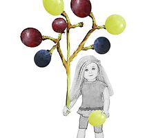 I LIKE GRAPES..CHILD HOLDING GRAPES ON THE VINE-PILLOW,TOTE BAG,TEE SHIRT,CARD,PICTURE ECT. by ✿✿ Bonita ✿✿ ђєℓℓσ