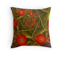 Crystal Globe Series No.I - Tomato Salad Spirals Throw Pillow