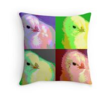 Colorized Chick Throw Pillow