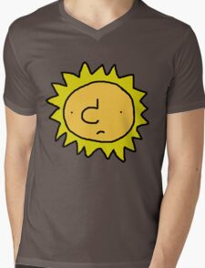 Unhappy Sun Mens V-Neck T-Shirt