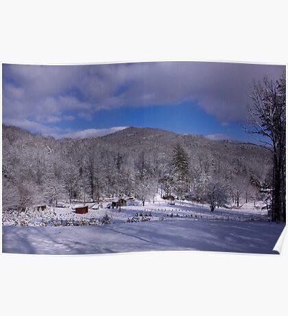 Patton Mountain Snow Scene Poster