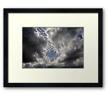 Cumulus Ribs Framed Print