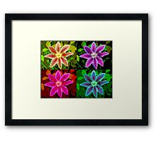 Colorized Flower Framed Print