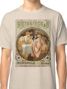 Heidsieck & Co Monopole Reims Champagne Vintage Art Classic T-Shirt