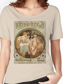 Heidsieck & Co Monopole Reims Champagne Vintage Art Women's Relaxed Fit T-Shirt