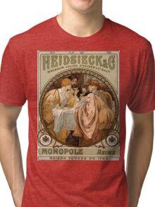 Heidsieck & Co Monopole Reims Champagne Vintage Art Tri-blend T-Shirt