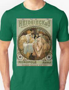 Heidsieck & Co Monopole Reims Champagne Vintage Art Unisex T-Shirt