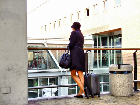 """the secretary waits for the boss in airport... by Antonello Incagnone """"incant"""""""