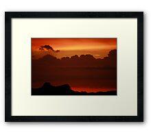 AZ sunset, Oro Valley Framed Print