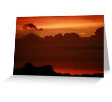 AZ sunset, Oro Valley Greeting Card