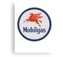 Mobilgas - Sign Canvas Print