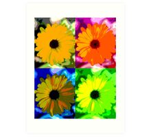 Colorized Flower Art Print