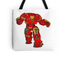 Tony Stark's Hulkbuster Suit Armour , Black outline with colour fill Tote Bag