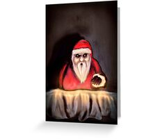Black Xmas: Santa Claus is Here Greeting Card