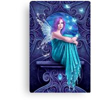 Astraea Fairy with Butterflies Canvas Print