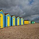 Littlehampton beach huts by Rachael Talibart