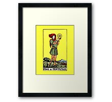 Page of Pentacles Tarot Card  Framed Print
