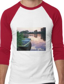 The Tranquil Elbe River Men's Baseball ¾ T-Shirt