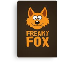Funny cute Freaky Fox Canvas Print
