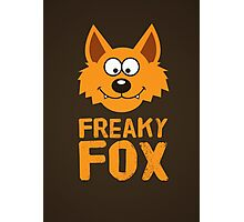 Funny cute Freaky Fox Photographic Print