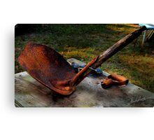 Rust and Shovel Canvas Print
