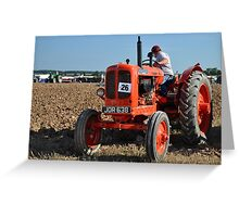Nuffield tractor at the Great Dorset Steam Fair Greeting Card