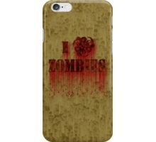 I Biohazard Zombies iPhone Case/Skin