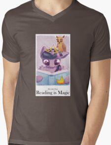 Reading is Magic: Twilight Sparkle Mens V-Neck T-Shirt