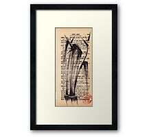 'Leg'a-cy' - brush pen bamboo dictionary sketch #393 Framed Print