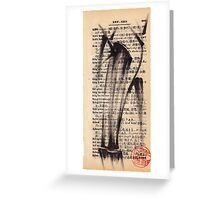'Leg'a-cy' - brush pen bamboo dictionary sketch #393 Greeting Card