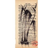 'Leg'a-cy' - brush pen bamboo dictionary sketch #393 Photographic Print