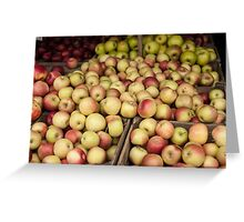 Apples to Apples Greeting Card