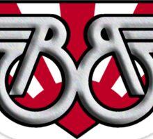Buckaroo Banzai Winged B with Japanese Flag Sticker