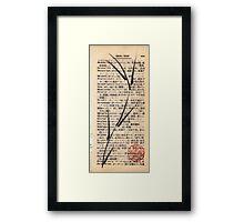 'De-ni'al' brush pen bamboo dictionary sketch #201 Framed Print